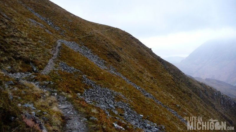 The climbing up to the Ring of Steall