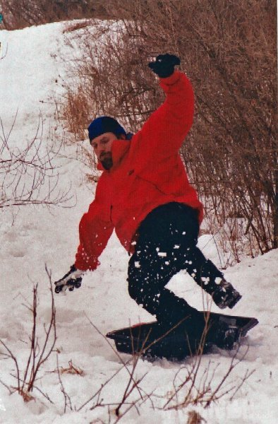 Chuck sledding back in 2004