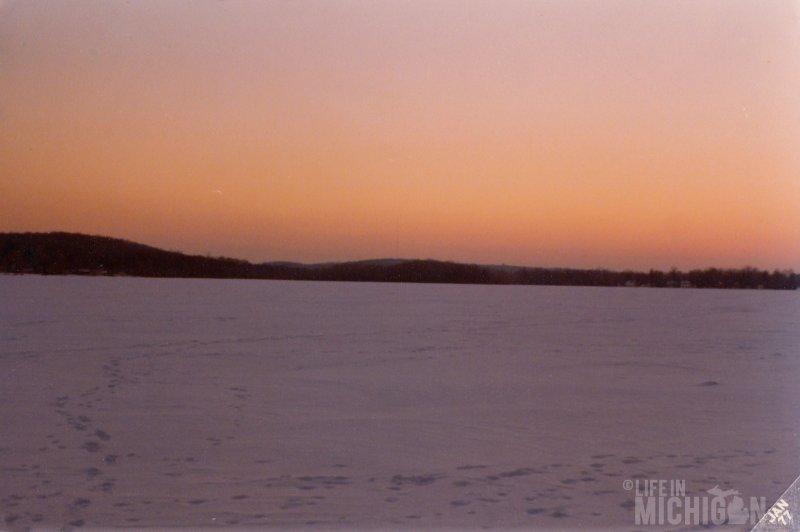 Frozen Baseline Lake in Pinckney