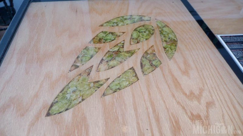 Hop inlay at Brewery Ferment bar