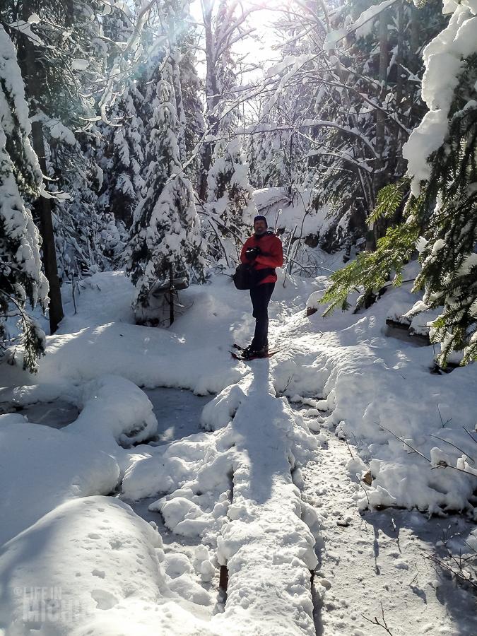 Yellow Dog River Snowshoe - U.P. Winter - 2014 - 22
