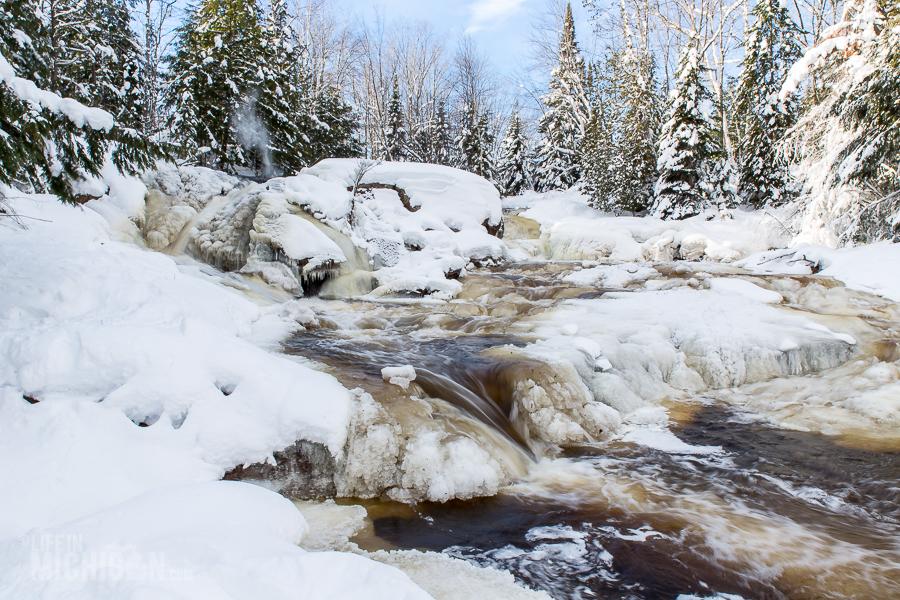 Yellow Dog River Snowshoe - U.P. Winter - 2014 -8