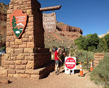Hiking in Zion National Park despite the 2013 Government Shutdown